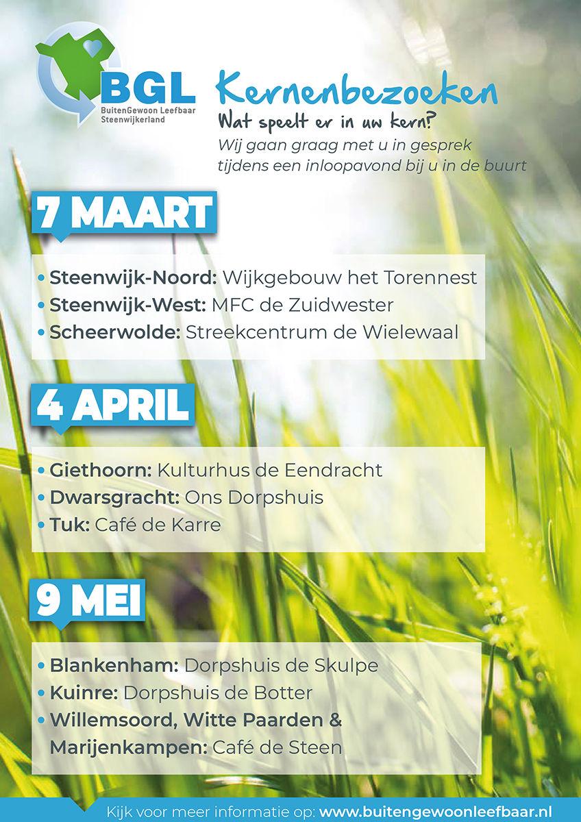BuitenGewoon Leefbaar bezoekt alle kernen van Steenwijkerland