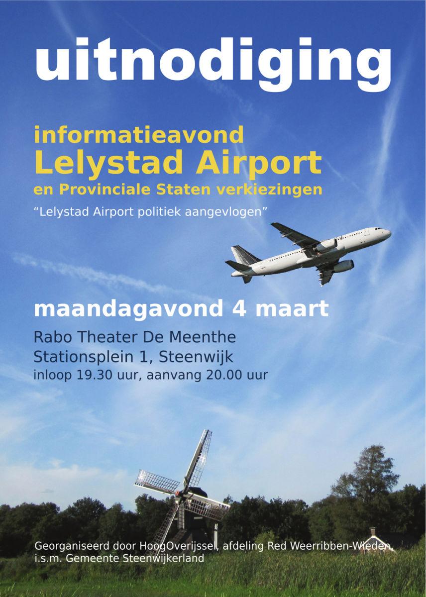 Informatieavond Lelystad Airport op 4 maart